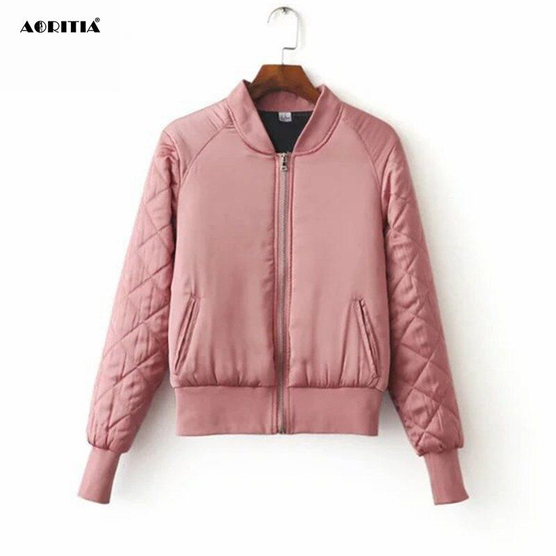 2018 Spring Winter Bomber Jacket Women Aviator Jacket Army Green Baseball Jackets Chaquetas Mujer Jaqueta Feminina Coat Women