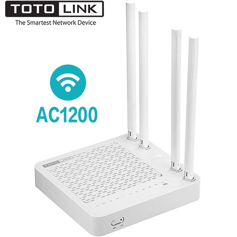 TOTOLINK A702R Wireless Wifi Router AC1200 Smart Dual Band 2.4G/5.0GHz Wi-Fi Repeater ,Support Multi-SSID/IPTV,Easy Setup