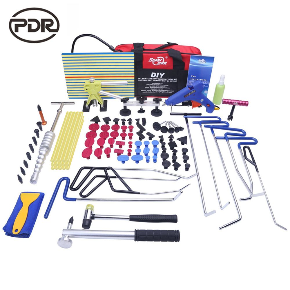 PDR Stangen Haken Werkzeuge Auto Körper Reparatur Kit Auto Repair Tool Set Tür Ding Dent Hagel Entfernung Saugnäpfe Kleber hammer Hohe Qualität