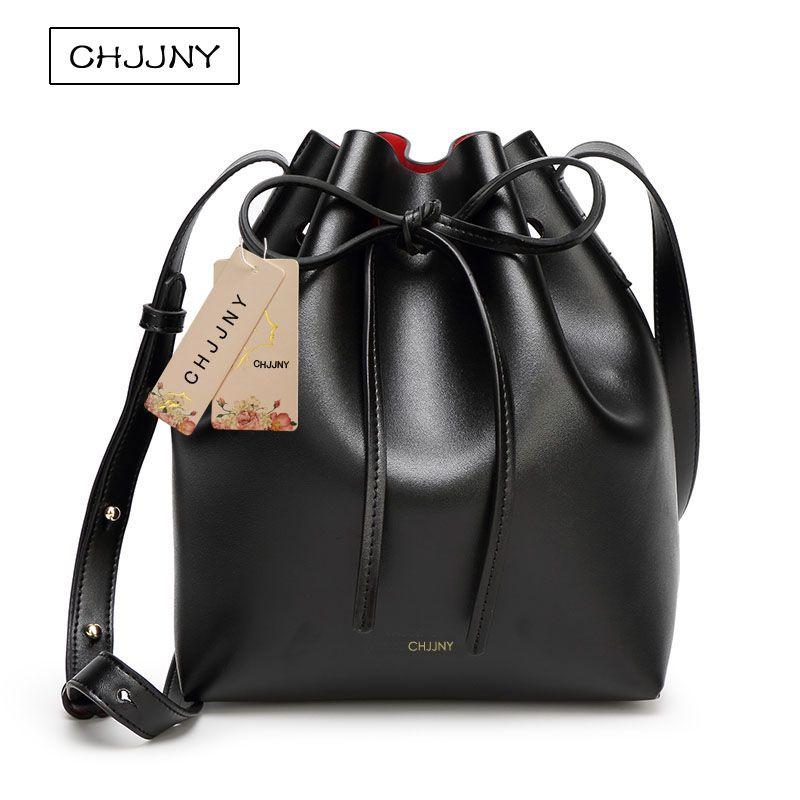 chjjny mansur designer gavriel with original logo dust bags bucket bag leather women brand drawstring school bags for teenagers