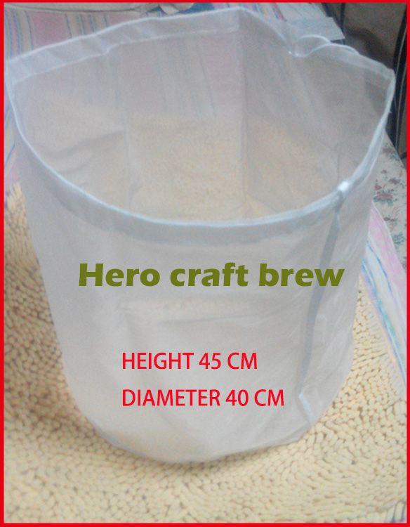 Home Brew Filtre Sac Hauteur 45 cm Diamètre 40 cm Brouwen Réutilisable Pour HomeBrew Mash Tun Hop Vin Bière Infusion dans le Sac
