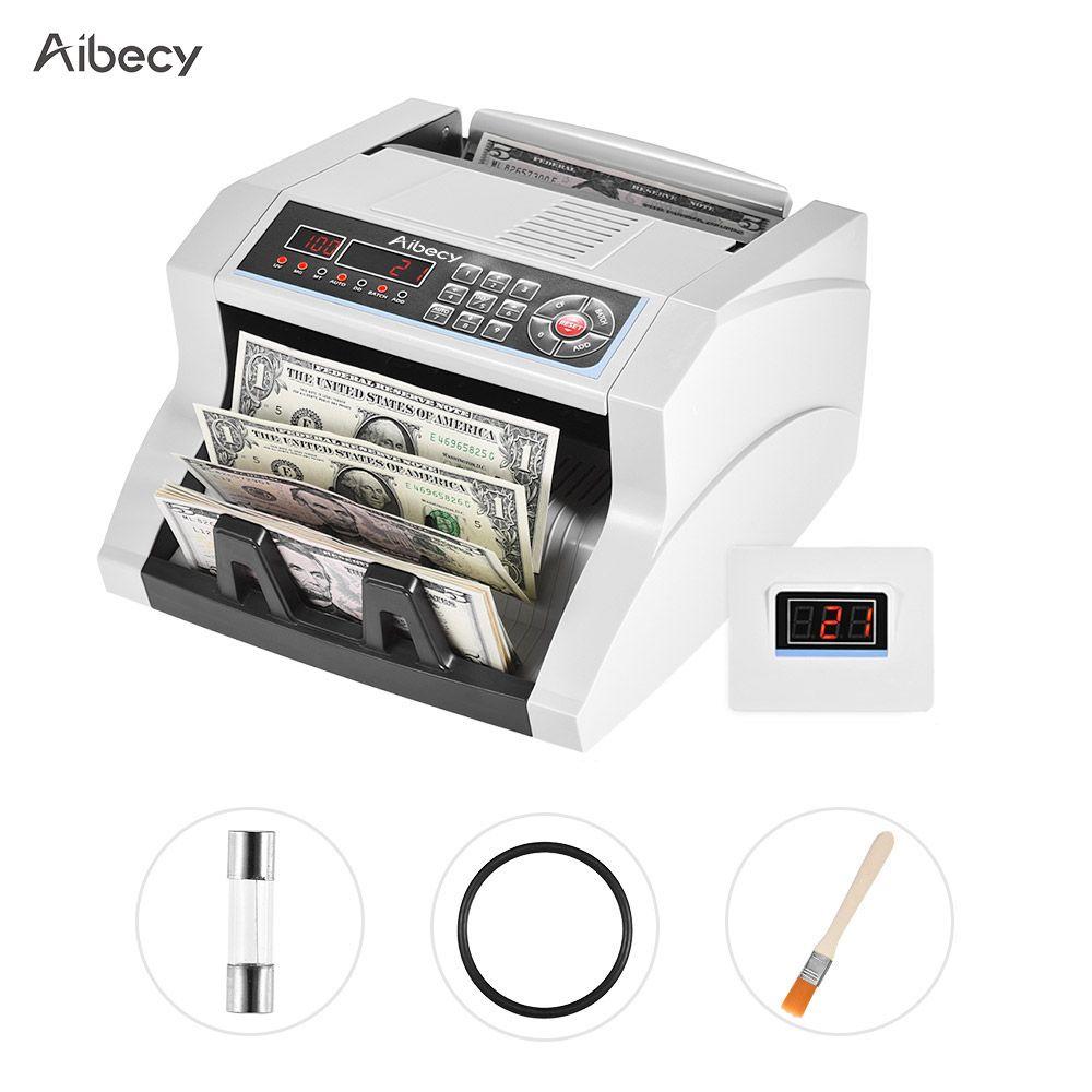 Aibecy Multi-moneda billetes Bill detector dinero automática máquina para contar dinero para nosotros euro libra MXN rublo