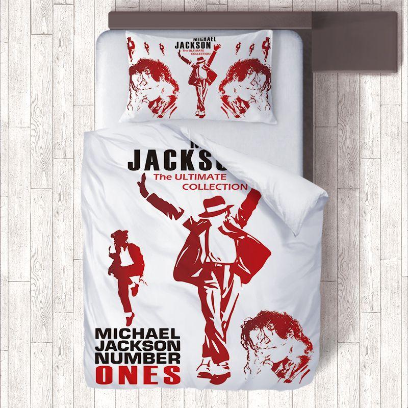 Obama/Michael Jackson/Bruce Lee/Kobe Anime Ensembles De Literie pour Enfants, bon marché Taie d'oreiller 50x76 cm, Couette Housses De Couette