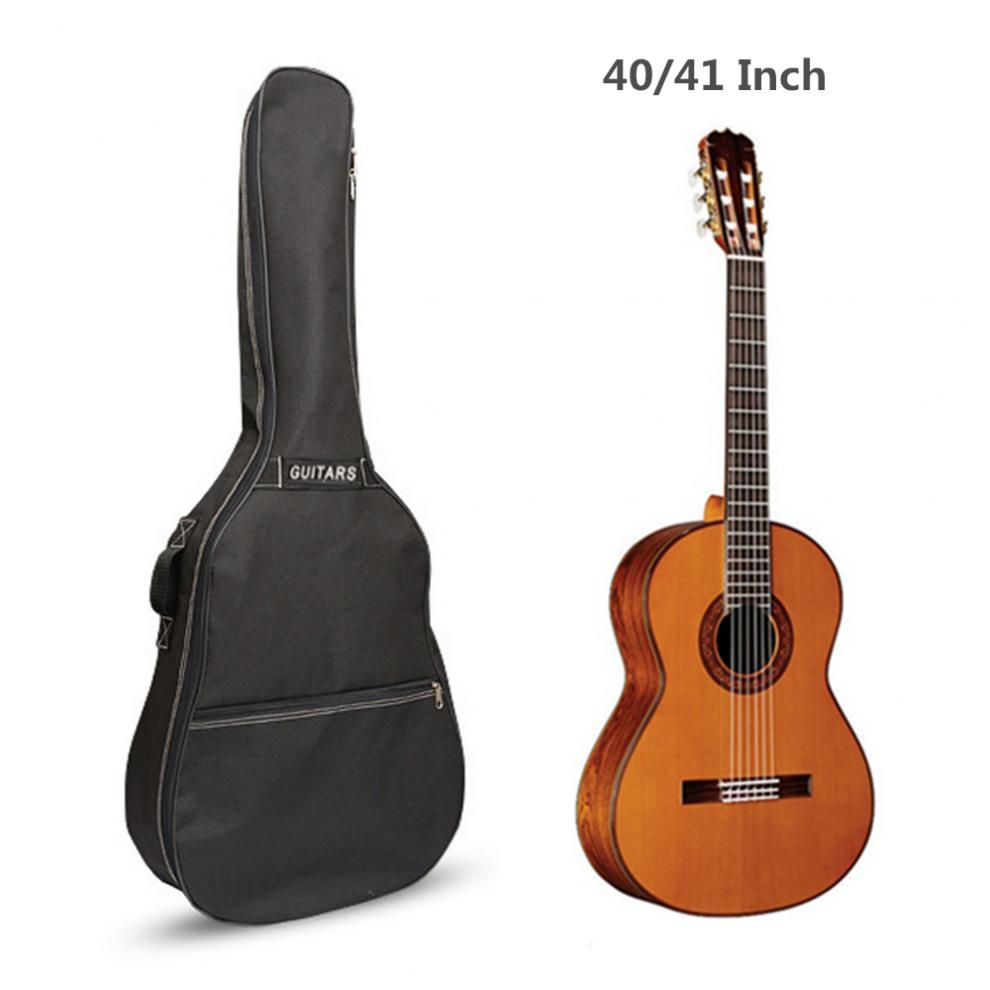 40 / 41 Inch Guitar Bag Carry Case Backpack Oxford Acoustic Folk Guitar Gig Bag Cover with Double Shoulder Straps