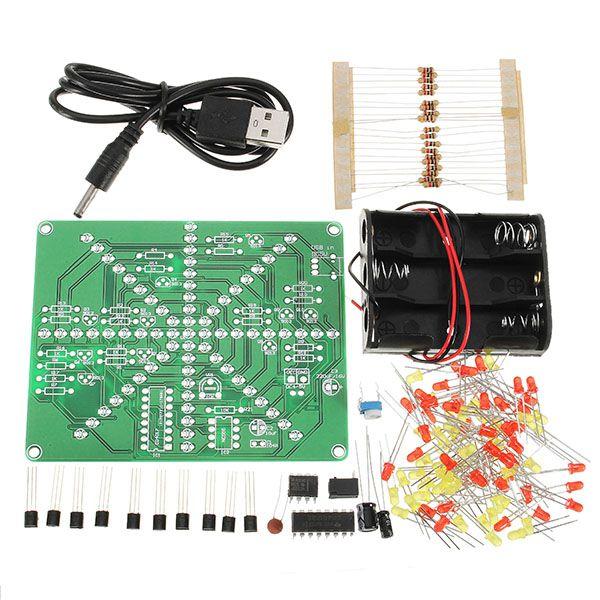 Mejor Promoción Conjunto de Producción Electrónica Kit DIY Kit LLEVADO de La Lámpara Flash LED