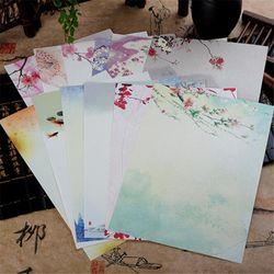 8 pcs/lot Vintage Style Chinois Enveloppes Mignon Kawaii Fleur Papier à Lettres Lettre Ensemble Pour Enfants Cadeau Fournitures Scolaires Étudiant