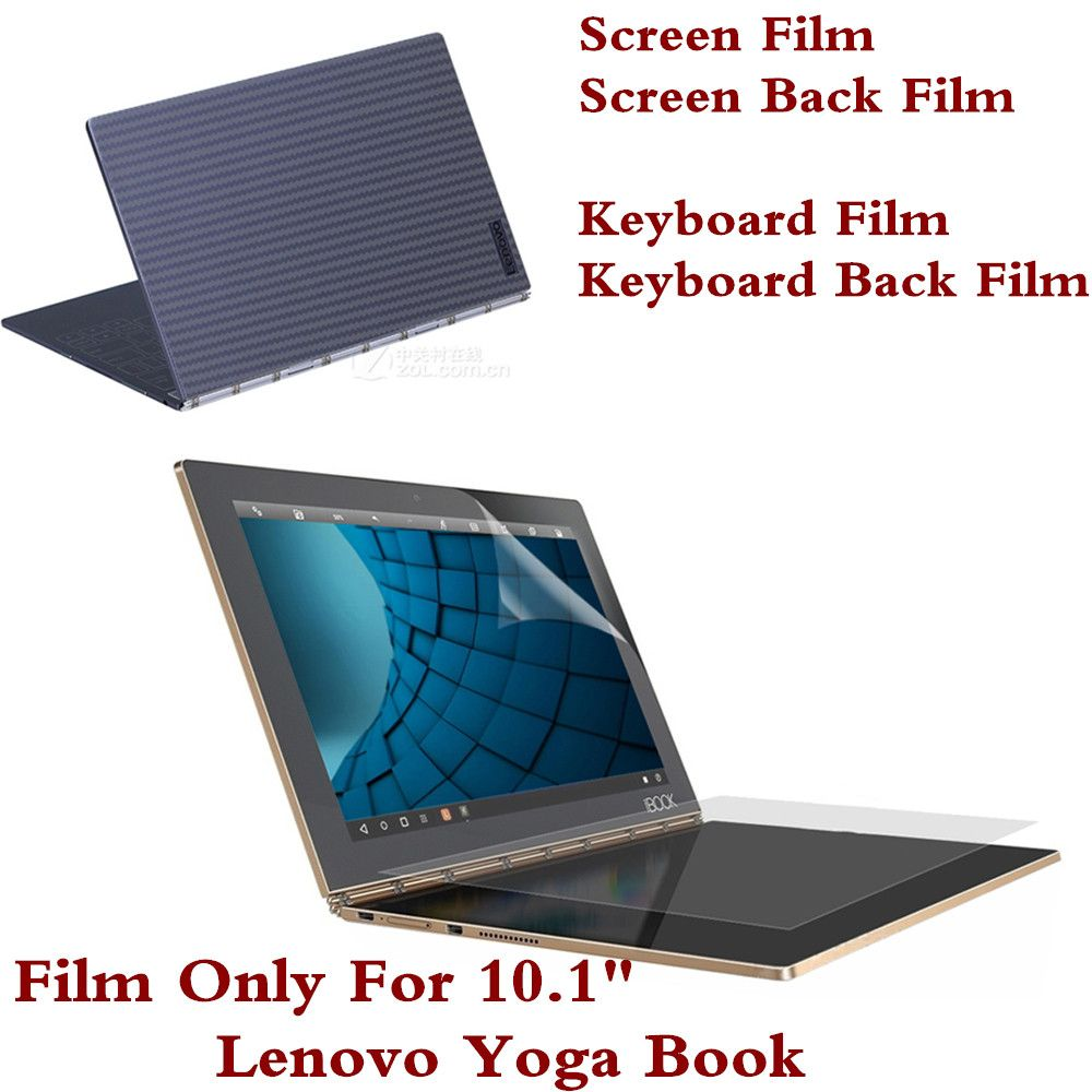 Whole Protective Film For Lenovo Yoga <font><b>Book</b></font> 10.1 Inch Tablet PC Screen Film Keyboard Cover Film Back Film