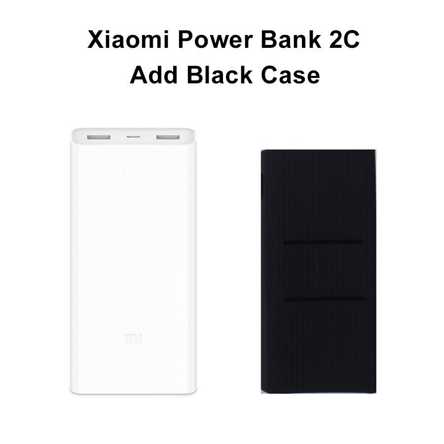 Original Xiao mi Power Bank 20000 mah 2C Tragbare Ladegerät Unterstützung QC3.0 Dual USB mi Externe Batterie Bank 20000 für handys