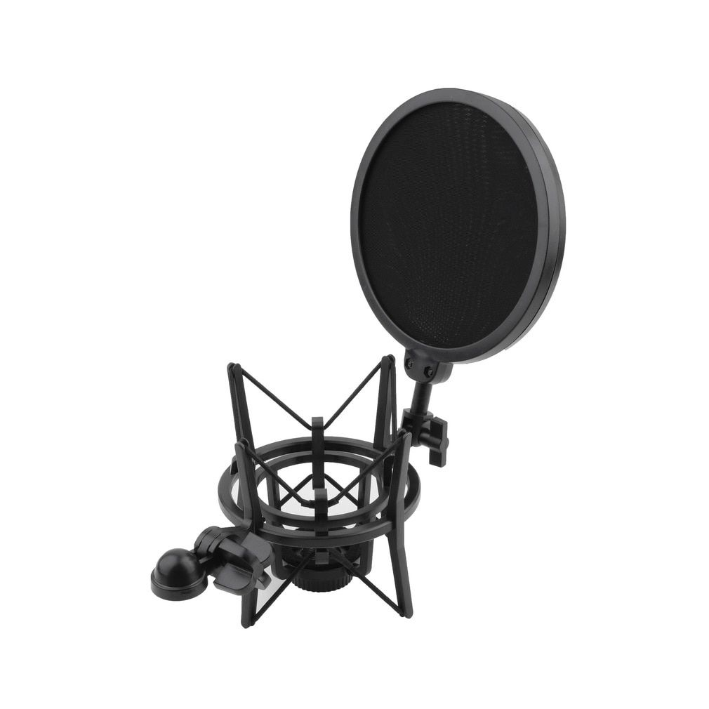 High Quality  2017 1 Set Microphone Shock Mount Stand Holder with Integrated Pop Filter Black Kit Newest