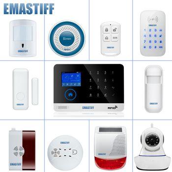 wireless alarm accessory glass/door/pir/siren/smoke/gas/water/password keypad sensor for security home wifi GSM SMS alarm system