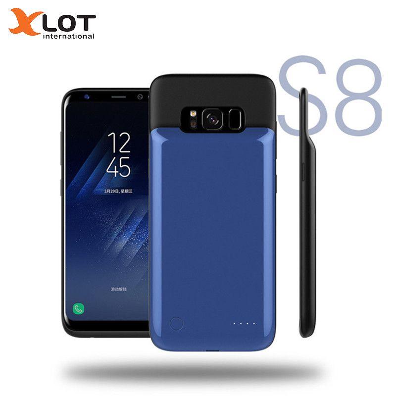 XLOT Ladegerät Fall Für Samsung galaxy S8 4000 mAh Power Bank Magnetische Fall Backup Ladegerät fall für Samsung galaxy S8 Plus