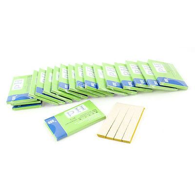 Yellow Rectangle Shaped Testing PH TEST 80 Paper Strip KIT 1-14 Scale 20 in 1