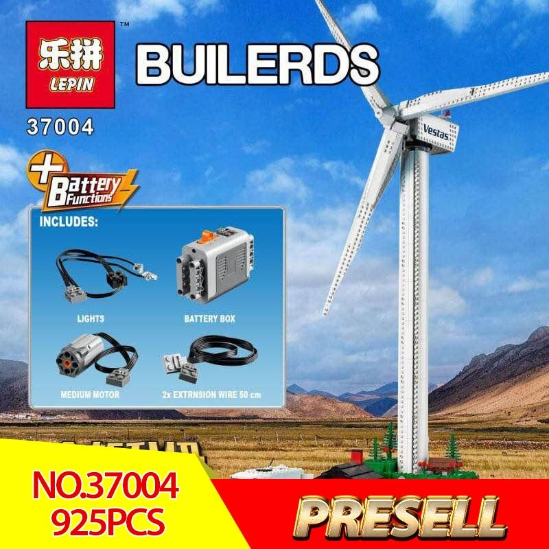 New Lepin 37004 Creative Toys The 10268 Windmill Turbine with Motor Function Building Blocks Bricks Assembly Toys Christmas Gift
