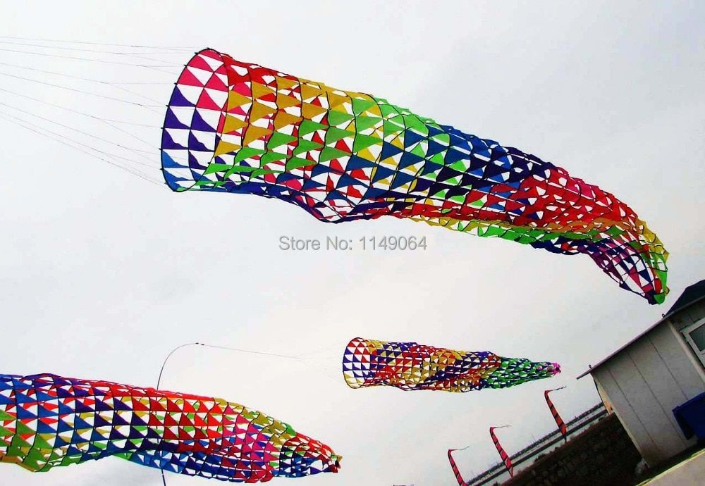 free shipping high quality 5m windsock kite large kite weifang chinese kite flying dragon hcxkite factory ripstop nylon fabric