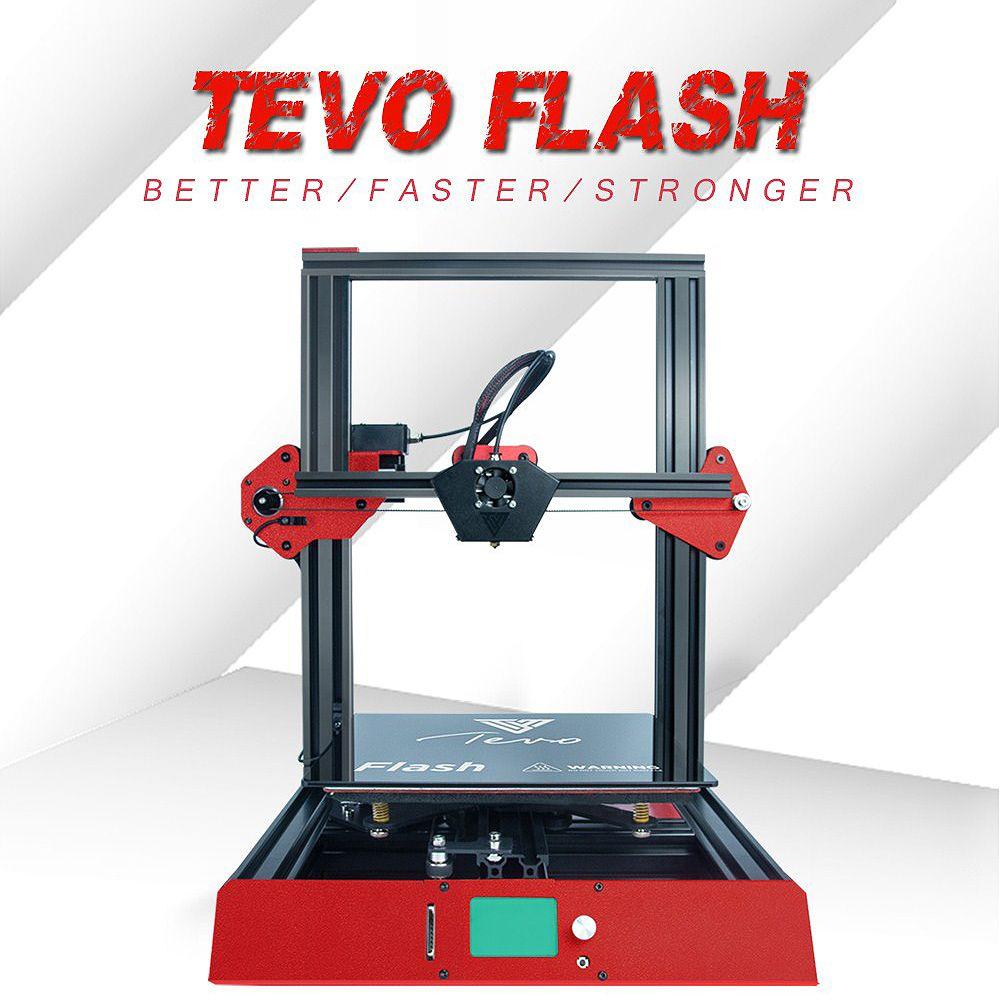TEVO Flash 98% Prebuilt 3D Printer Kit 235*235*250 Printing Size full metal frame 3D Printer