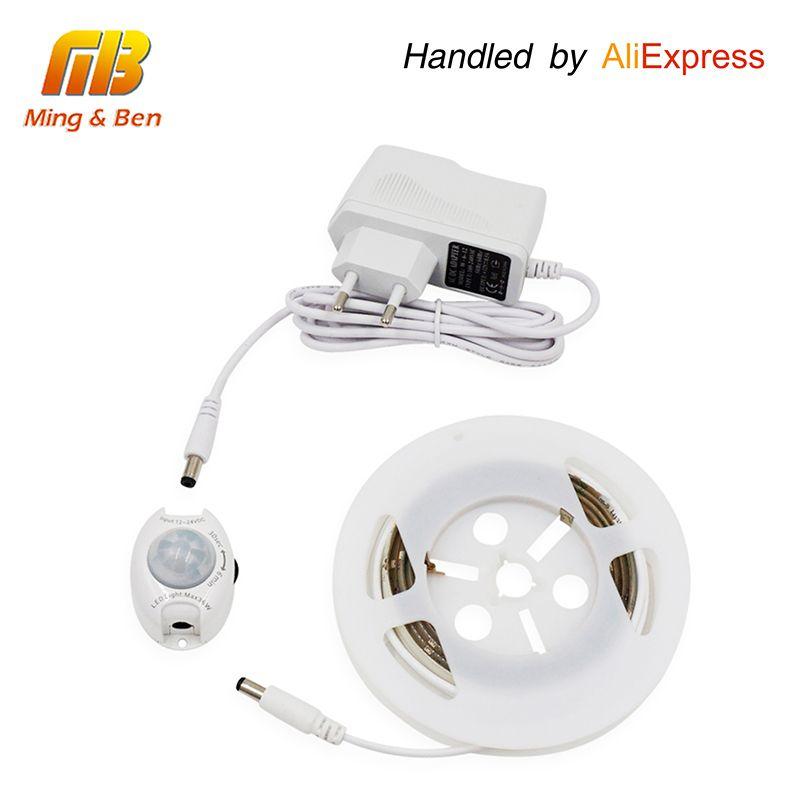 [MingBen] Activé Par le Mouvement LED Capteur Bande Étanche IP66 Numérique Lit-éclairage Acttivated Éclairage Avec Corps Capteur 1.2 M
