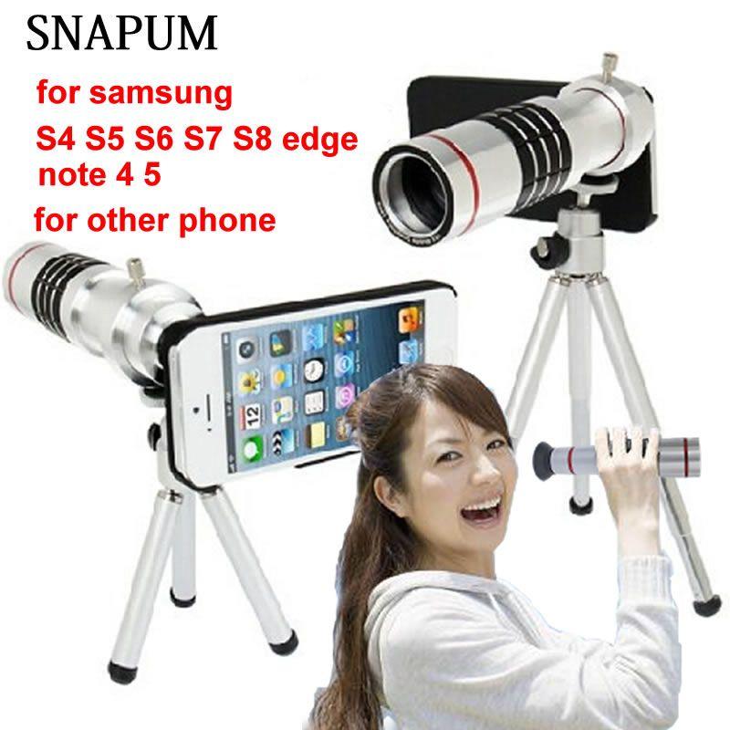 SNAPUM Téléphone Portable mobile téléphone 18x Caméra Zoom optique Télescope téléobjectif pour Samsung note 4 5 galaxy S4 S5 S7 bord S8