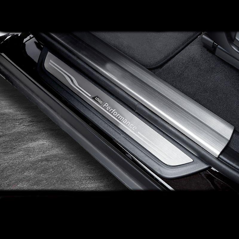 Accessories Door Sill Scuff Plate Guards Protector Stickers For BMW 3 4 5 Series 3GT F20 F30 F34 X1 X3 X4 X5 X6 F32 F10 F16 E70