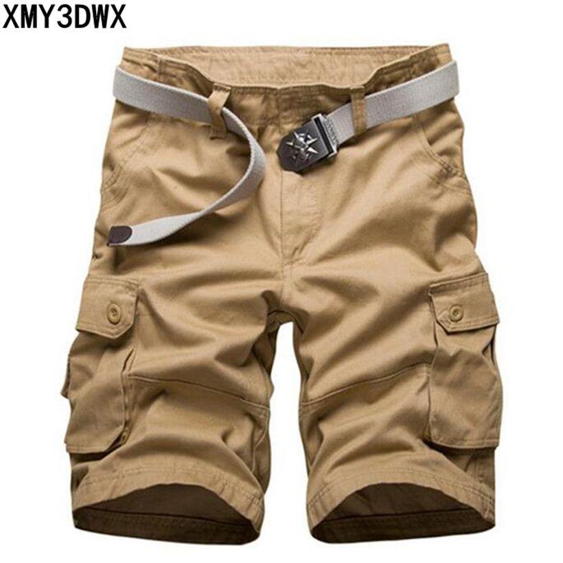 Nouveau 2018 marque hommes de casual camouflage lâche cargo shorts hommes grande taille multi-poches militaire pantalon court salopette 40 42 44