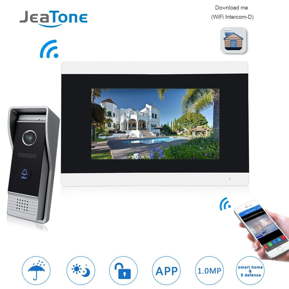 Touch Screen Wireless WIFI IP Video Door Phone Intercom Video Doorbell Villa Apartment Access Control System Motion Detection