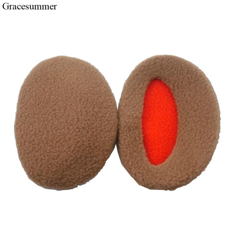 1Pair Man Solid Earbags Earmuffs Unisex Women New Ear Muff Bandless Fleece Ear Warmers Men Women Earcaps Winter Outdoors CJ626