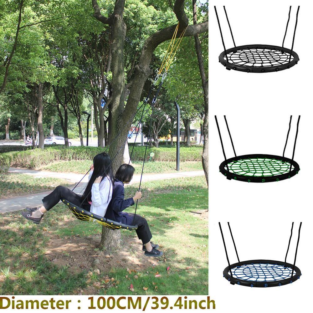 Children round nest nest swing indoor and outdoor hanger children net rope stout swing baby toys bearing 200 kg diameter 100cm
