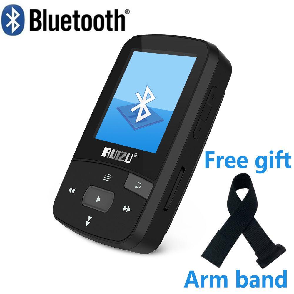 RUIZU X50 Sport Bluetooth MP3 lecteur de musique enregistreur FM Radio Supprot SD carte Clip Bluetooth lecteur MP3 8 GB PK RUIZU X06 X18 X26