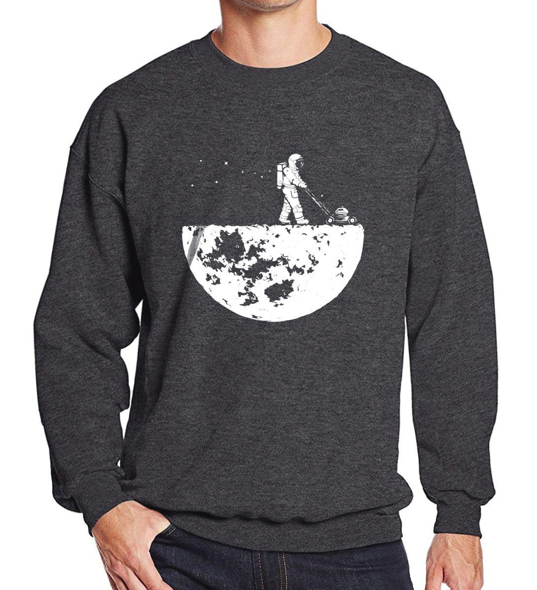 Hot sale 2017 men sweatshirts autumn winter fleece print HanHent Develop The Moon fashion casual men's sportswear hoody harajuku