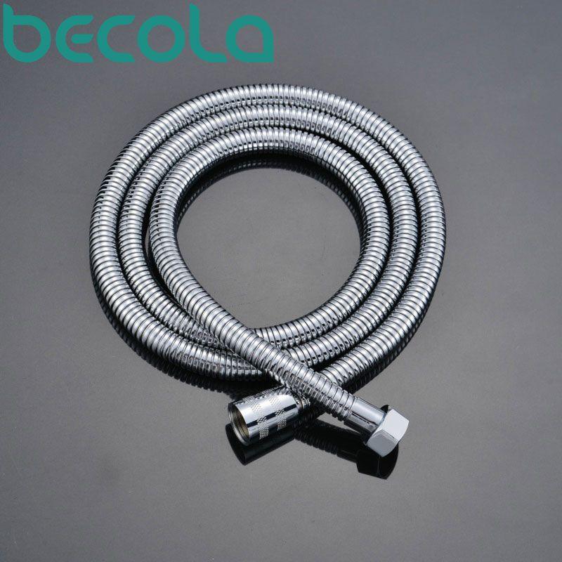 Becola livraison gratuite 150 cm tuyau en or rose noir laiton antique tuyaux de plomberie tuyau de douche chrome tuyau de douche B-150