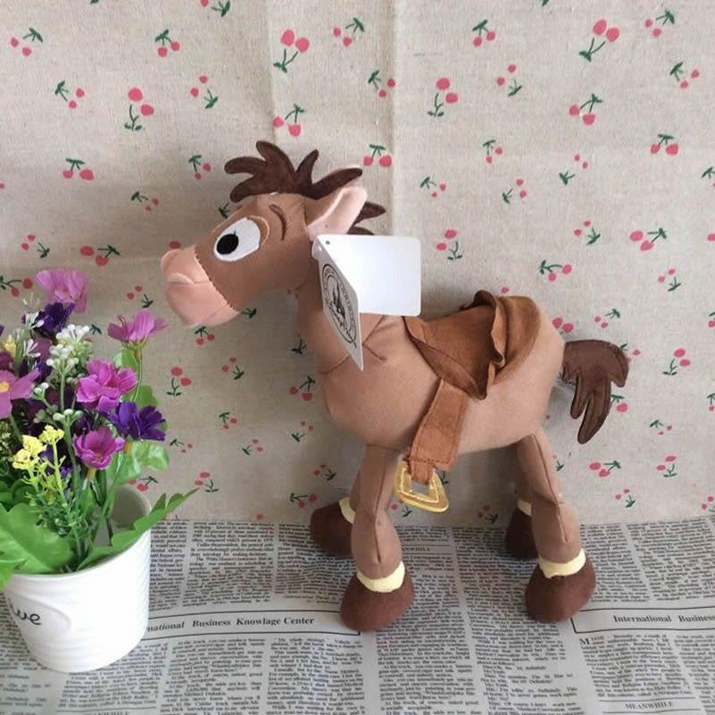Livraison gratuite 23 cm = 9 pouces Original Toy Story peluche Bullseye Figure le cheval mignon poupée pour cadeau pour enfants