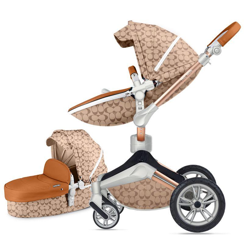 Hot mom baby kinderwagen hohe landschaft sitzen liege schock kinderwagen drehbare import trolley 2019 neue vitalität gelb meer