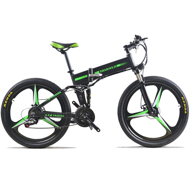 48 V 350 W 24 speed Electric Bike Mountain Hybrid Electric Bicycle Watertight Frame Inside Li o 7.8 Ah Battery Folding e bike