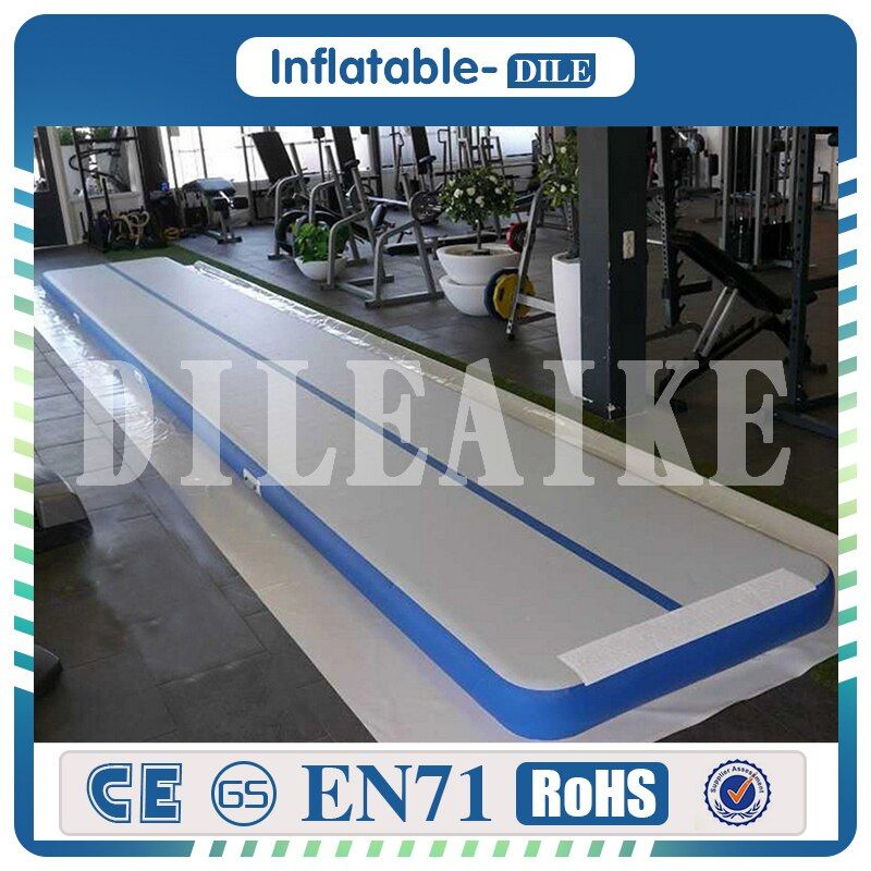 Free Shipping 500x100x10cm Inflatable Air Track Gymnastics Tumbling Mat Inflatable Air Tumbling Track Gym Mat