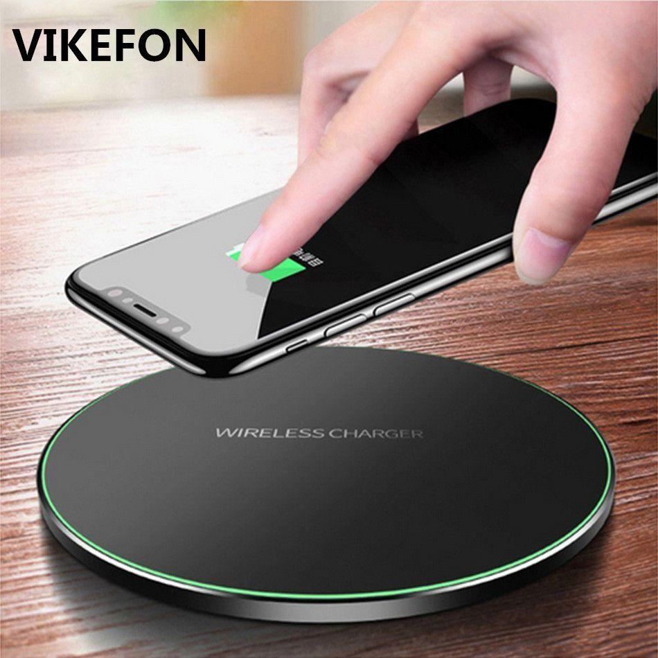 VIKEFON Qi chargeur sans fil 10 W QC 3.0 téléphone chargeur rapide pour iPhone Samsung Xiaomi Huawei etc chargeur sans fil USB Pad PK AUKEY