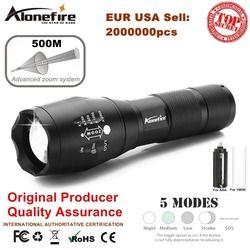 AloneFire E17 XM-L T6 5000LM Aluminium Étanche Zoomables CREE LED Lampe Torche lumière pour 18650 Rechargeable Batterie ou AAA