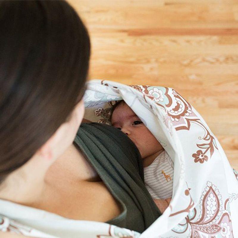 Coton D'allaitement Couvre Bébé Respirant Tablier D'allaitement Coton Mousseline Tissu D'allaitement D'allaitement Cap Couvercle D'alimentation