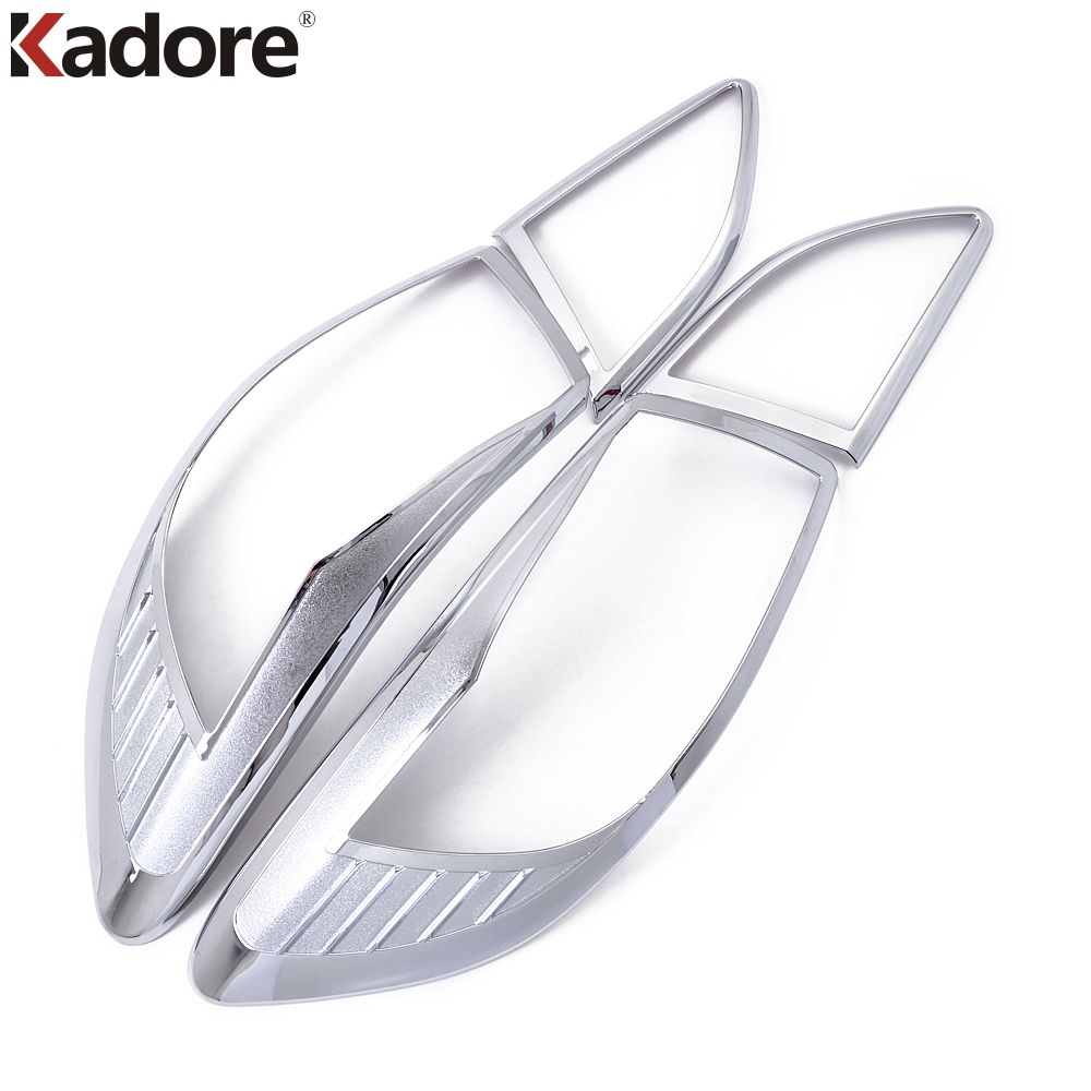Kadore Car Styling Fit For Mazda 3 2010 2011 2012 Sedan ABS Chrome Tail Rear Light Lamp Cover Trim 4pcs Auto Taillight Frame