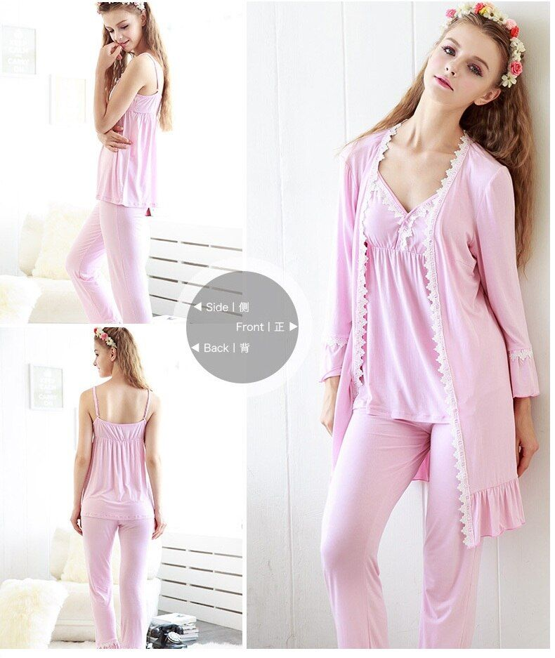 Free shipping.Top Brand women sexy Bamboo Fiber Pajamas,homme Sleepwear Lounge,Lace girl's sex,nightgown