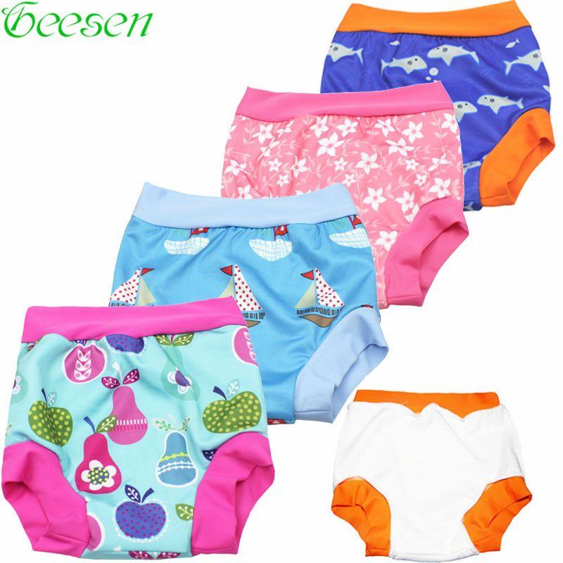 Bebé Pañal de Tela Pañal de Natación Natación Pantalones de Natación traje de Baño de Tela de Baño traje de Baño Piscina Pantalón Lavable Pañal de Tela Bebé