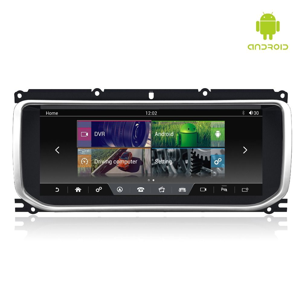 MERRYWAY 10,25 ''für RANGE ROVER EVOQUE 2012-2016 Dashboard Multimedia Navi GPS Bluetooth Android6.0 RAM + ROM 2 + 32 gb Player