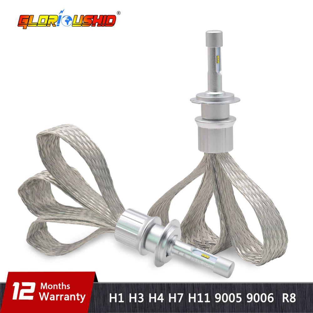 H7 LED H4 H1 H3 H8 H9 H11 9005 9006 HB4 ZES Chips Car Led Headlight 6000k white Auto Fog light Headlamp Bulb Car Styling 10000lm