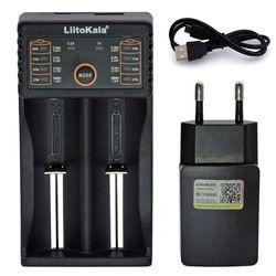 Liitokala Lii402 Lii202 Lii100 LiiS1 18650 cargador 1.2 V 3.7 V 3.2 V AA/AAA NiMH 26650 li-ion cargador inteligente 5 V 2A UE enchufe