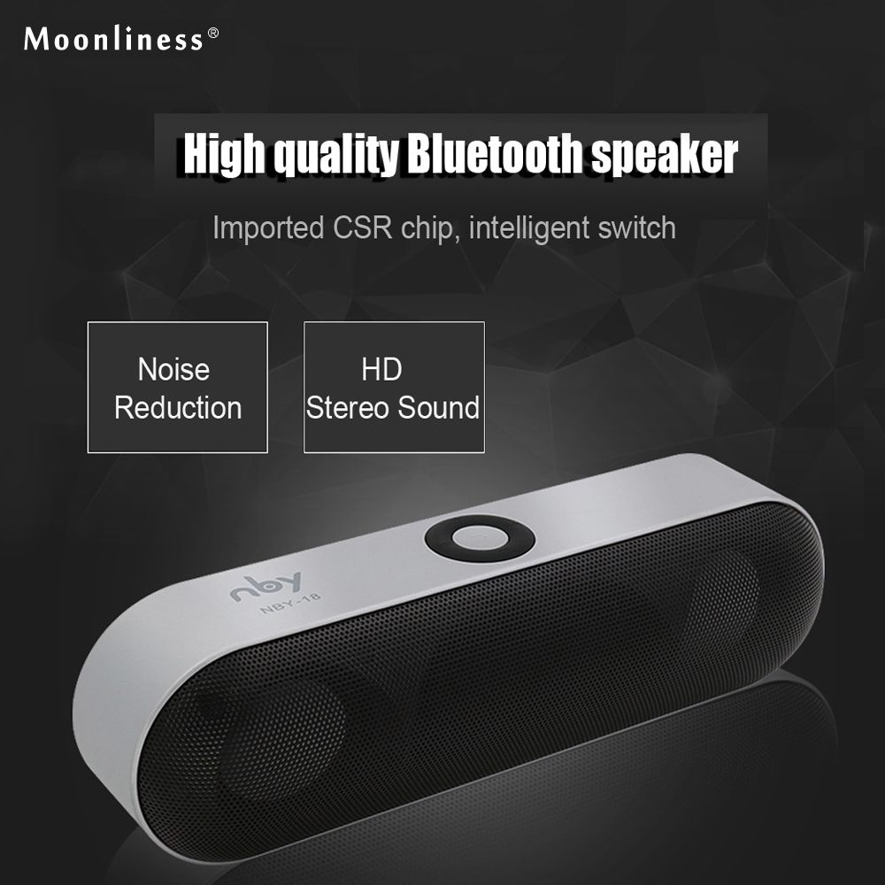 Moonliness New NBY-18 Mini Bluetooth Speaker Portable Wireless Speaker Sound System 3D Stereo Music Surround Support Bluetooth,
