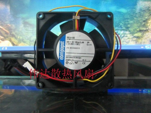Original EBMPAPST MULTIFAN 3314GS DC 24V 2.4W Cooling fan
