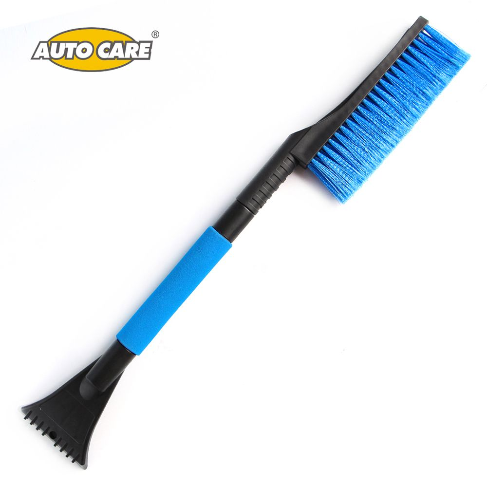 Auto Care Car Snow Brush with Foam Grip with Ice Scraper Extendable 33 Telescoping Tools for any vehicle Winter Window Cleaning