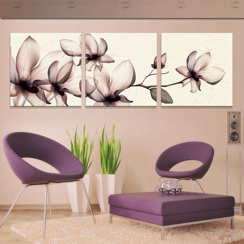 Jhljiajun 3 шт. желтые орхидеи фотографии Холсты для рисования на стене для Гостиная настенный модуль росписи Книги по искусству Куадрос плакат
