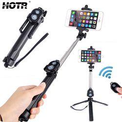 HOTR Bluetooth Tripod Holder Selfie Stick Wireless Selfie Stick Tripod with Bluetooth Remote Controller Palo Selfie Stick Tripod