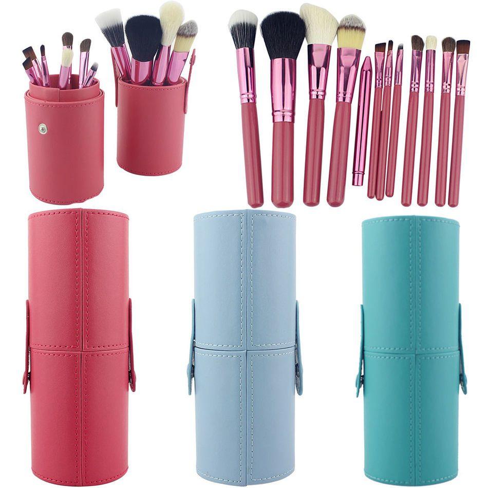12 PCS Maquillage Brosses Professionnel BLUEFRAG Make Up Brosse Titulaire Set Pincel Maquiagem pour Beauté Contour kit Fondation Cosmétiques