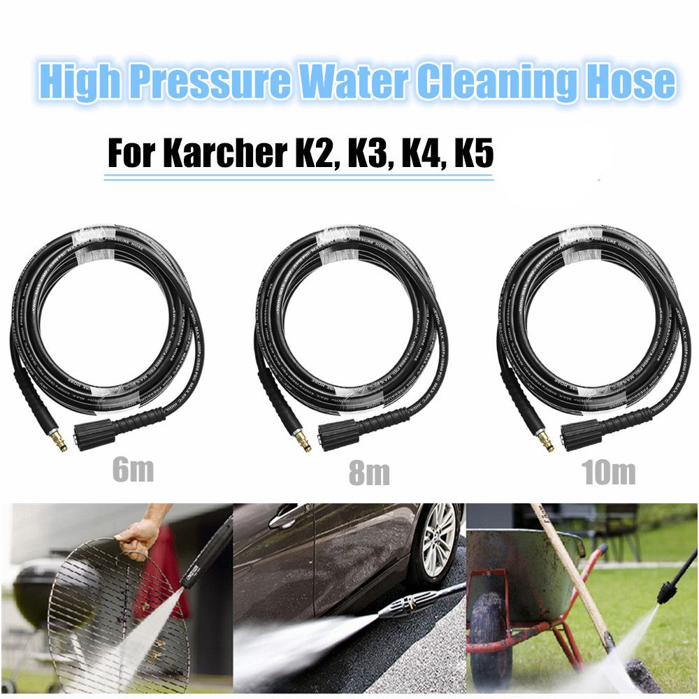 6m/8m/10m High Pressure Water Cleaning Hose Pure Copper for Karcher K2 K3 K4 K5 High Pressure Washer