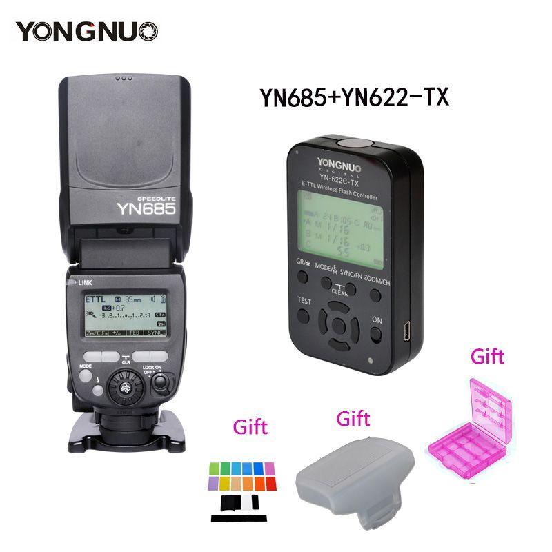 YONGNUO Flash Speedlite YN685 Wireless HSS TTL Build in Receiver + Transmitter Controller YN622C-TX/YN622N-TX for Canon Nikon